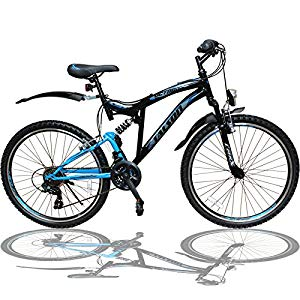talson 24 zoll mountainbike fahrrad mit vollfederung beleuchtung 21 gang shimano oxt 24 zoll. Black Bedroom Furniture Sets. Home Design Ideas